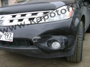 Бампер NISSAN-MURANO - до ремонта